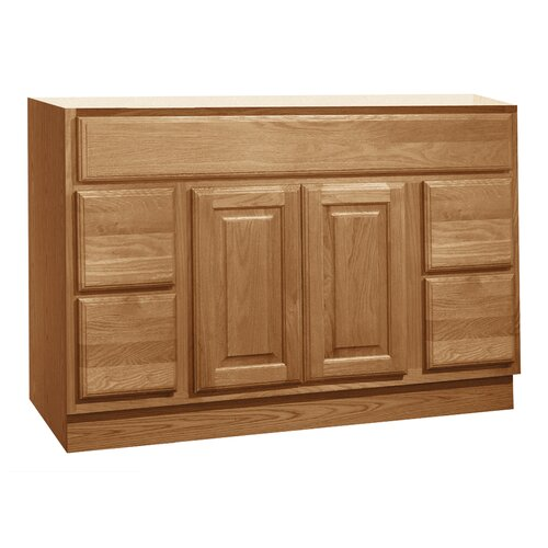 "Coastal Collection Salerno Series 48"" Maple Bathroom Vanity Base"
