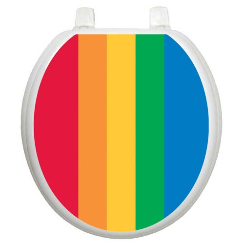 Toilet Tattoos Youth Rainbow Toilet Seat Decal