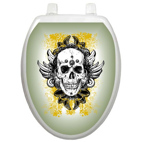Toilet Tattoos Youth Skull Grunge Toilet Seat Decal