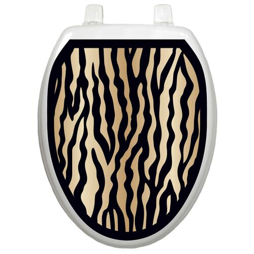 Toilet Tattoos Classic Zebra Toilet Seat Decal