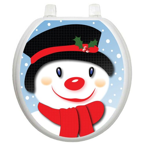 Toilet Tattoos Seasonal Snowman Toilet Seat Decal