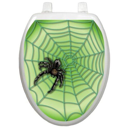 Toilet Tattoos Seasonal Spider Web Toilet Seat Decal