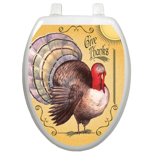 Toilet Tattoos Holiday Thanksgiving Turkey Toilet Seat Decal