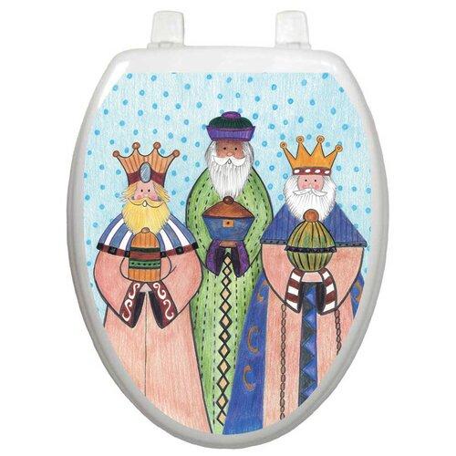 Toilet Tattoos Holiday Three Kings Toilet Seat Decal