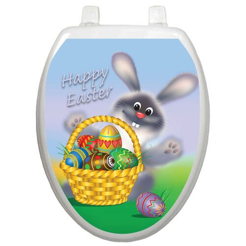 Toilet Tattoos Holiday Easter Bunny Toilet Seat Decal