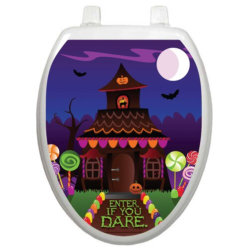 Toilet Tattoos Seasonal Haunted House Toilet Seat Decal