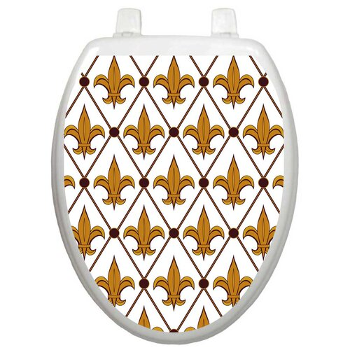 Toilet Tattoos Classic Fleur-De-Lis Toilet Seat Decal