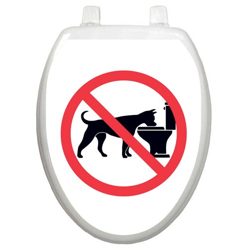 Toilet Tattoos Whimiscal No Doggie Bowl Toilet Seat Decal