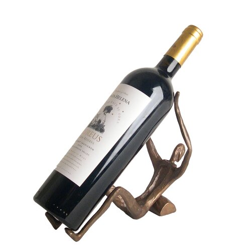 Man Laying Cast Iron Wine Holder