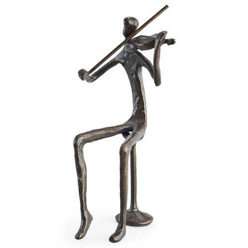 Male Violin Player Sculpture