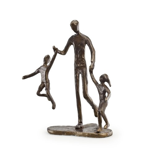 Father with Two Children Sculpture