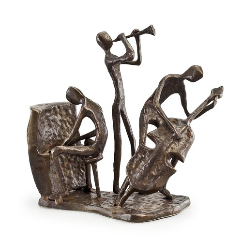 Musician Trio on Base Sculpture