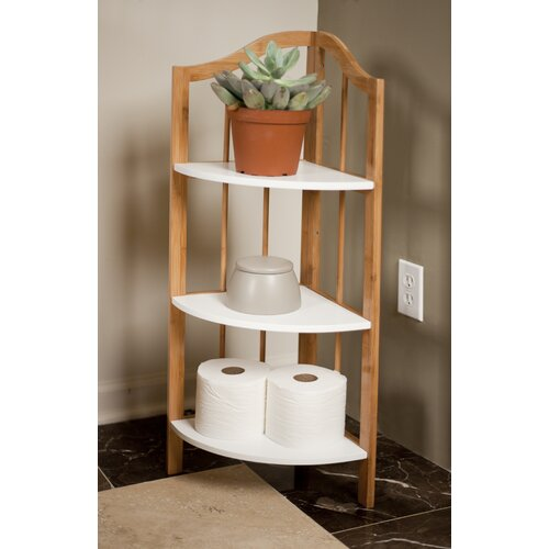 danyab bamboo bathroom corner utility shelf unit reviews. Black Bedroom Furniture Sets. Home Design Ideas