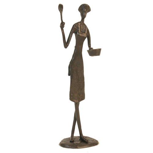 Female Chef with Pan Figurine