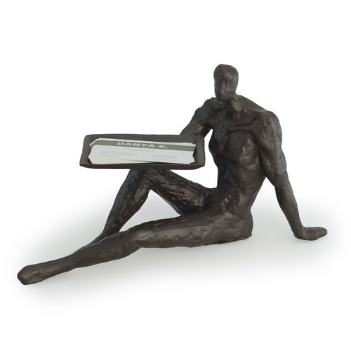Male Figure Card Holder Figurine