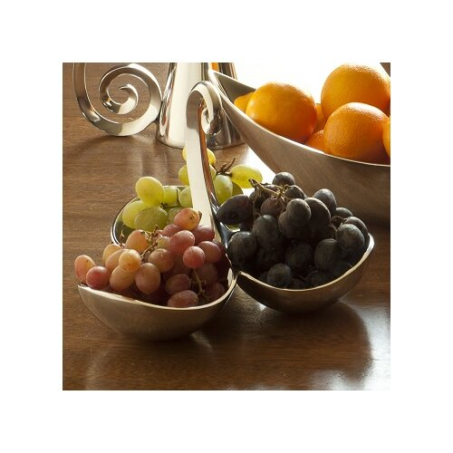 Danya B Gaudi Inspired Organic Swirls Tri Serving Bowl