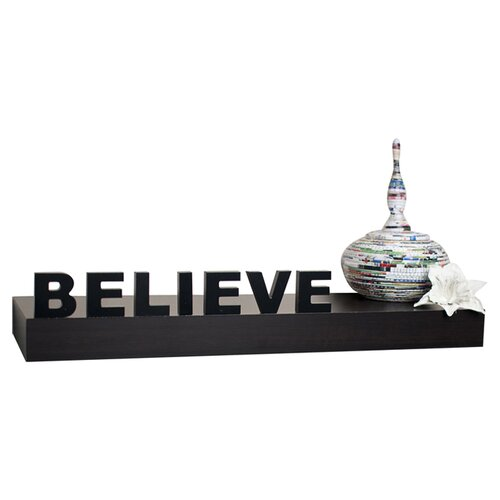 "Danya B Decorative ""Believe"" Wall Mount Self"