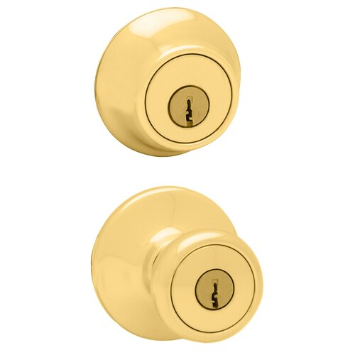Kwikset Tylo Entry Knob with Double Cylinder Deadbolt