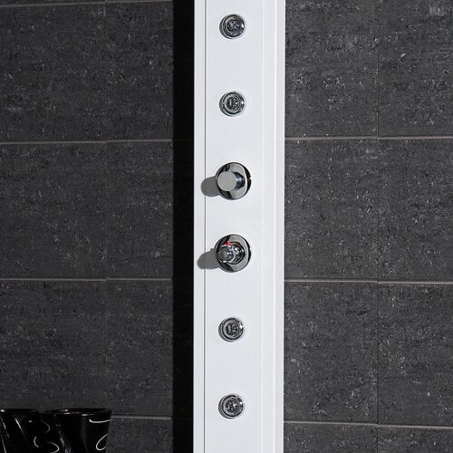 Ariel Bath Lucite Acrylic Thermostatic Shower Panel with Steam Generator