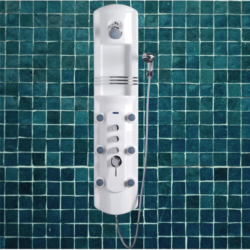 "Ariel Bath Lucite Acrylic 52.2"" Thermostatic Shower Panel"
