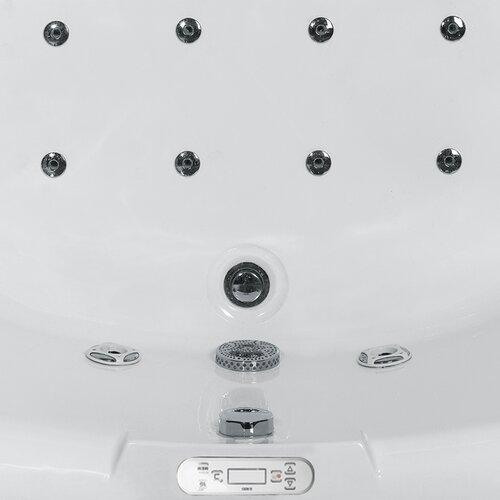 "Ariel Bath 59"" x 59"" Corner Whirlpool Tub with Waterfall Faucet"
