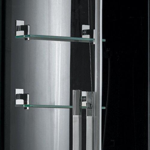 Ariel Bath Platinum Sliding Door Steam Shower with Tub