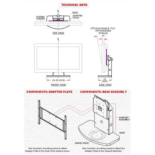 """Peerless Tilt/Swivel Desktop Mount for 32"""" - 50"""" Plasma/LCD"""