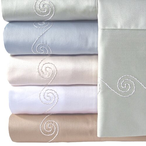 Supreme Sateen 300 Thread Count Swirl Pillowcase (Set of 2)