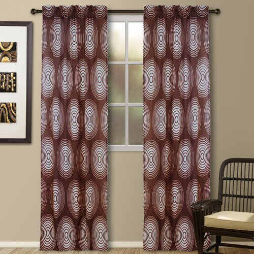 Veratex, Inc. Jacquard Galaxy Rod Pocket Curtain Single Panel