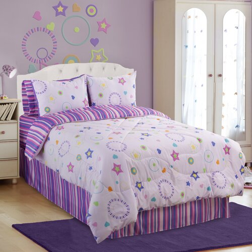 Veratex, Inc. Glow in The Dark Star Dance Comforter Set