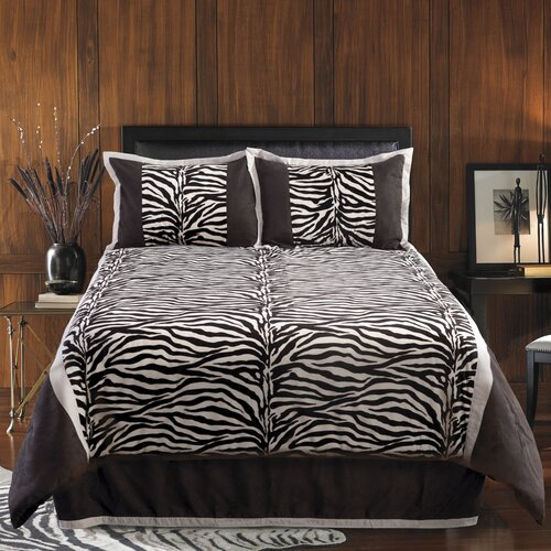 Veratex, Inc. Zumani Zebra 4 Piece Comforter Set