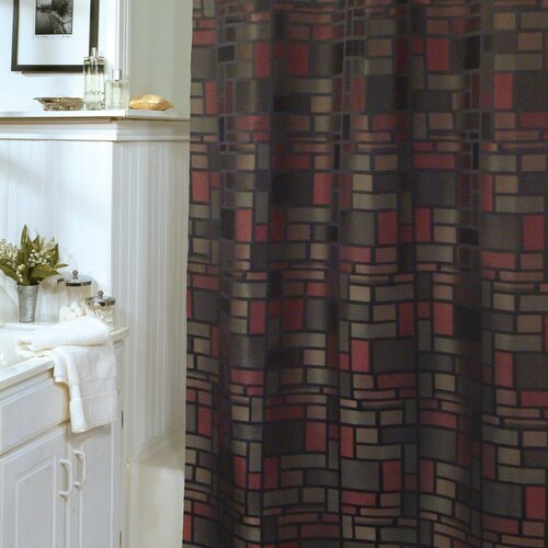 Block Party Polyester Shower Curtain