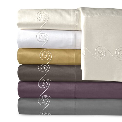 Supreme Sateen 800 Thread Count Cotton Swirl Pillowcase (Set of 2)