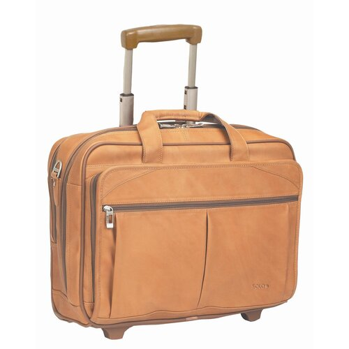 Solo Cases Full Grain Leather Laptop Briefcase