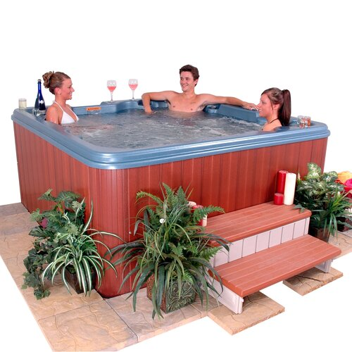 QCA Spas 6-Person 53-Jet Punta Cana Wrap Around Lounger Spa