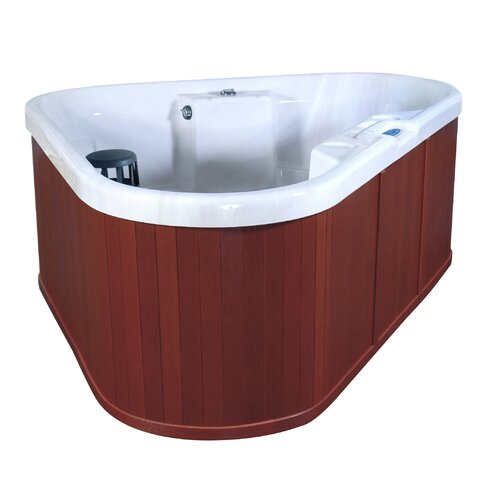 QCA Spas 3-Person 12-Jet Bermuda Corner Spa