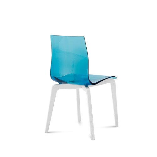 Domitalia Gel-L Dining Chair with White Frame
