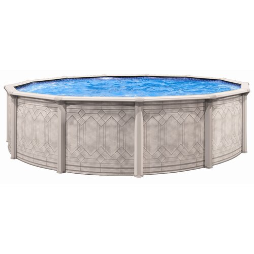 "Trevi Aqua Mate by Trevi Round 52"" Deep Sunscape Above Gound Pool"