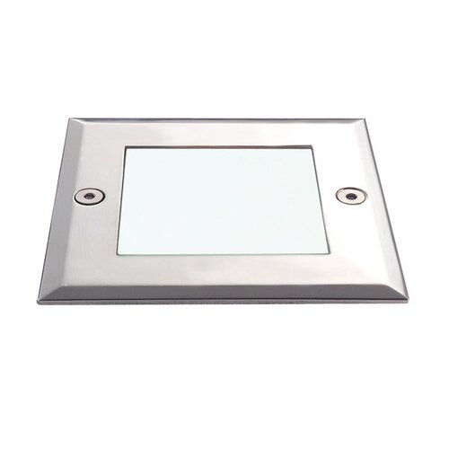 Eurofase In-Ground One Light Square MR16 Uplight in Stainless Steel