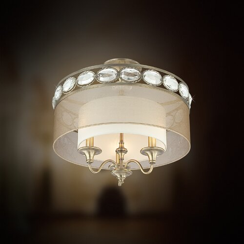 Eurofase Bijoux 3 Light Semi Flush Mount