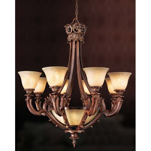 Tiverton 9 Light Chandelier
