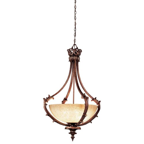 Tiverton 3 Light Inverted Pendant