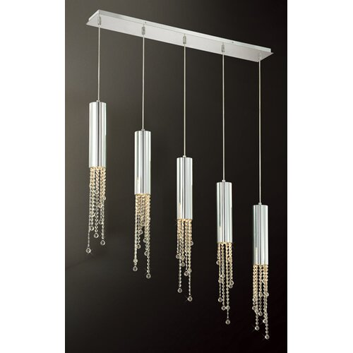 Groove 5 Light Pendant