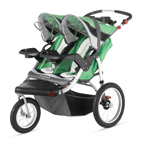 Schwinn Turismo Swivel Wheel Double Jogging Stroller