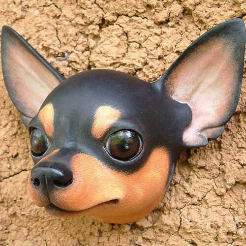 Novica 'Courageous Black' Chihuahua Mask Wall Décor