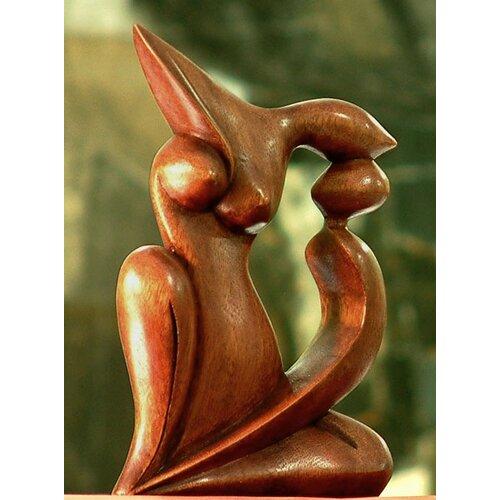 Novica Elegant Kiss Sculpture