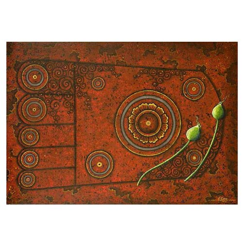 Footprint on Stone by Parinya Nanjai Graphic Art on Canvas