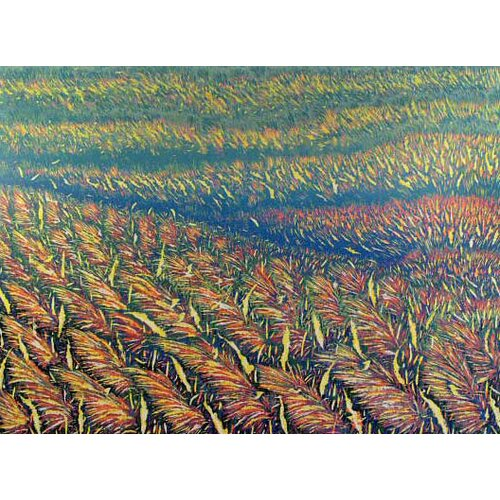 Novica Colorful Thai Field by Det Graphic Art