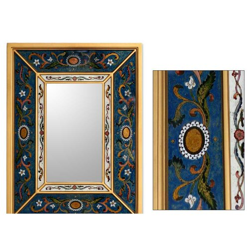 Novica Sunflower Skies Mirror