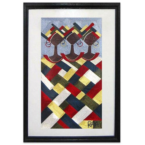 In Harmony Threadwork by Randy Abeka Abbam Framed Graphic Art